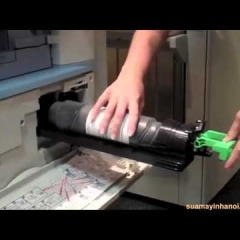 Hướng dẫn thay mực máy photocopy ricoh