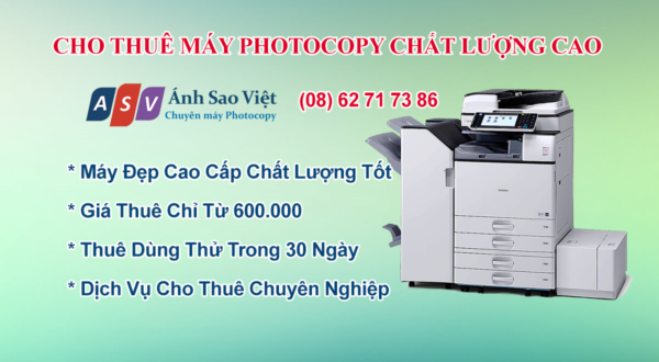 Cho Thuê Máy In Photocopy Scan Màu
